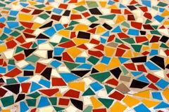 färgrik golvmosaik Arkivbilder