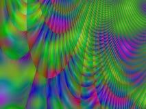 Färgrik grön röd målning för abstrakt begrepp för blåttspårplasma Royaltyfria Bilder