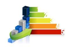Färgrik graf för affärsframgång stock illustrationer