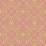 Färgrik grafisk blommamodell på rosa bakgrund Royaltyfri Fotografi