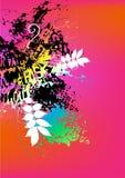 färgrik grunge för bakgrund Royaltyfri Bild