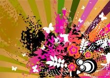 färgrik grunge för bakgrund Fotografering för Bildbyråer