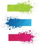färgrik grunge för baner Royaltyfria Bilder