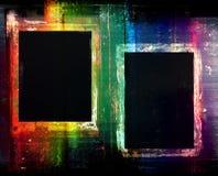 Färgrik grunge inramar bakgrund Royaltyfria Foton