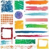 Färgrik Grunge texturerar Arkivfoto