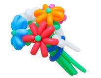 Färgrik grupp av isolerade ballonger royaltyfri foto