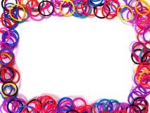 Färgrik gummibandram Royaltyfri Fotografi