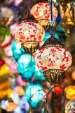 Färgrik hängande lampa Arkivfoton
