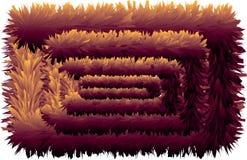 färgrik hårig linje 3D utan slut royaltyfri illustrationer