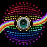 färgrik högtalare för bakgrund Royaltyfri Foto