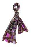 Färgrik halsduk med blom- design Arkivfoton
