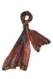 Färgrik halsduk med blom- design Royaltyfria Foton