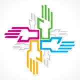 Färgrik handbakgrund för vektor Arkivfoto