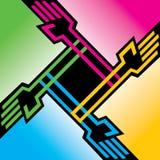 Färgrik handbakgrund för vektor Fotografering för Bildbyråer