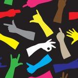 Färgrik handkonturmodell Arkivbild