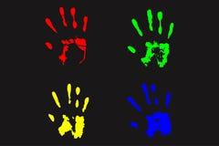 Färgrik handstämpel Royaltyfria Bilder