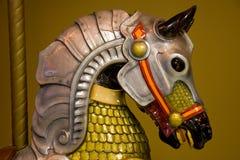 färgrik head häst för caroussel Arkivbild