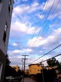 Färgrik himmel i huven Royaltyfri Bild