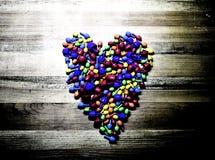 färgrik hjärta royaltyfria foton