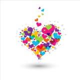 färgrik hjärta Vektor Illustrationer