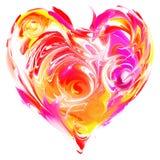 färgrik hjärta Arkivfoto