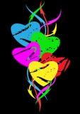 Färgrik hjärta. royaltyfri illustrationer
