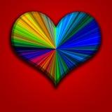 färgrik hjärta Royaltyfri Fotografi