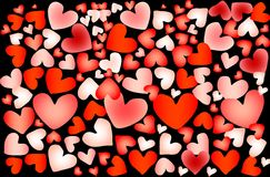 Färgrik hjärta Arkivbild