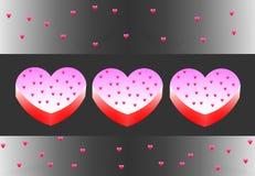 Färgrik hjärta Fotografering för Bildbyråer