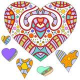 färgrik hjärta för samling stock illustrationer