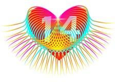 Färgrik hjärta. Februari 14 vektor illustrationer