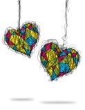 färgrik hjärta skissar Fotografering för Bildbyråer