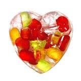 Färgrik hjärta som göras av is Fotografering för Bildbyråer