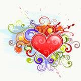 färgrik hjärtaförälskelse vektor illustrationer