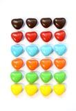 Färgrik hjärtaformgodis arkivbilder