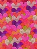 färgrik hjärtatextur för bakgrund Royaltyfri Fotografi