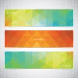 Färgrik horisontaluppsättning av mosaiska baner Royaltyfri Fotografi