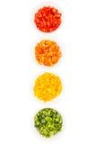 Färgrik huggen av spansk peppar II arkivbild