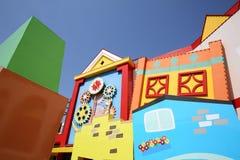 Färgrik husarkitektur Arkivbild