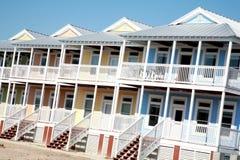 färgrik husrad för strand Royaltyfri Foto