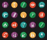 Färgrik hygien och ansa grafiska symboler vektor illustrationer