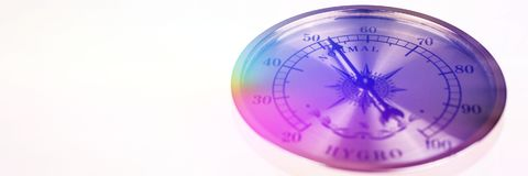Färgrik hygrometerdet normala som isoleras på vit bakgrund Royaltyfri Fotografi