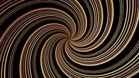 Färgrik hypnotisk spiral bakgrund för rörelse för irisvirvelabstrakt begrepp för bruk med musikvideo Färgrik cirkulärspiral royaltyfri illustrationer