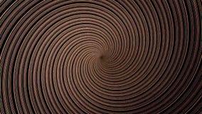 Färgrik hypnotisk spiral bakgrund för rörelse för irisvirvelabstrakt begrepp för bruk med musikvideo Färgrik cirkulärspiral stock illustrationer