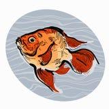 Färgrik illustration av fisken Royaltyfri Foto