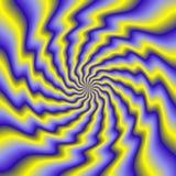 Färgrik illustration av psykopatspiralen Arkivfoto