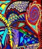 färgrik illustration för abstrakt bakgrund Arkivbild