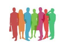 Färgrik illustration för affärsfolk Royaltyfri Fotografi