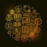Färgrik illustration för Crypto marknadsrunda Arkivfoto