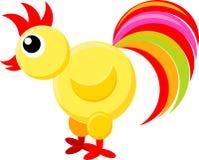 färgrik illustration för fågel Royaltyfri Bild
